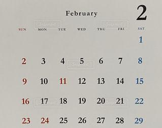 閏年のカレンダーの写真・画像素材[2899975]