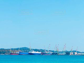 造船所のある風景の写真・画像素材[3039701]
