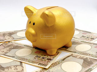 豚の貯金箱の写真・画像素材[3086060]