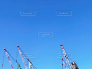造船所のクレーンの写真・画像素材[3297652]