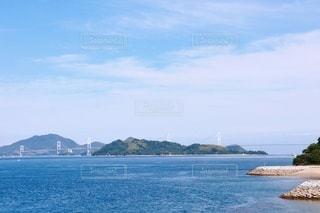 今治市 大角海浜公園からの来島海峡大橋の写真・画像素材[3342288]