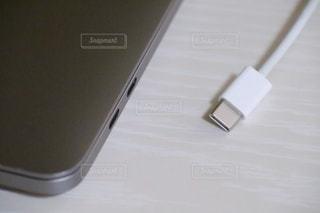USBタイプCコネクタの写真・画像素材[3362729]