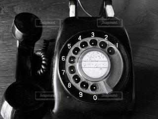 黒電話の写真・画像素材[3452613]