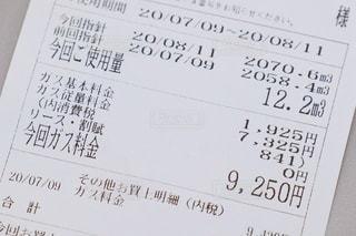 ガス料金の請求書の写真・画像素材[3550627]
