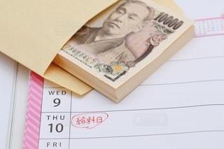 給料日 カレンダーの写真・画像素材[3550633]
