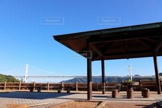 向島休憩所から見た因島大橋の写真・画像素材[3558647]