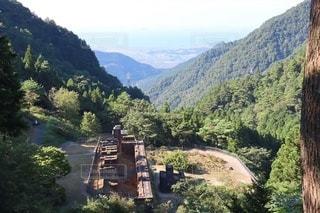 別子銅山 東平地区 駐車場から見下ろした景色の写真・画像素材[3562809]