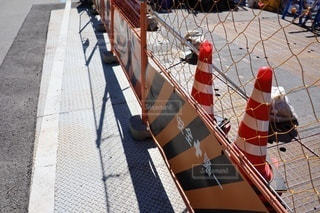 工事現場のフェンスの写真・画像素材[3562808]