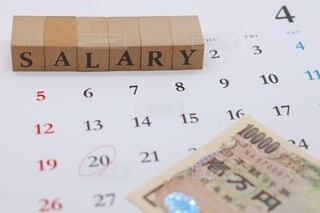 給料日 4月の写真・画像素材[3653360]