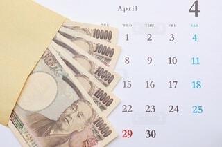 給料日 4月の写真・画像素材[3653369]