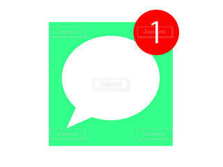 スマホ メッセージアプリの通知の写真・画像素材[3698463]