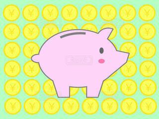 豚の貯金箱 日本円の写真・画像素材[3700401]
