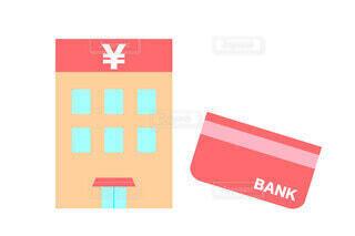 銀行の建物 円記号の写真・画像素材[3831688]