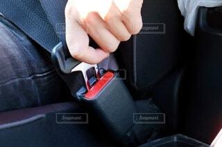 車のシートベルトの写真・画像素材[3835852]