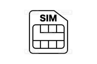 SIMカードのアイコン素材の写真・画像素材[3859758]