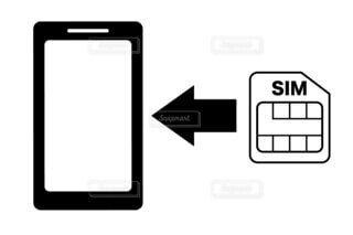 スマホとSIMカードの写真・画像素材[3879517]