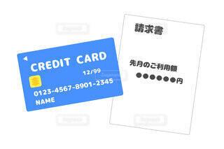 クレジットカードの請求書のイラストの写真・画像素材[3965309]
