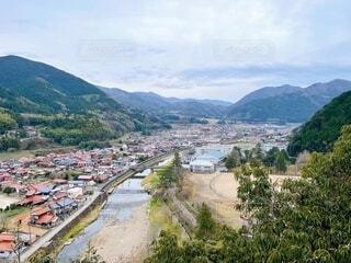島根県津和野町 稲成神社から見た風景の写真・画像素材[4010102]