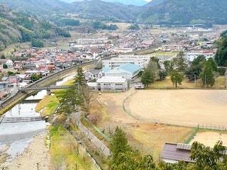 島根県津和野町 稲成神社から見た風景の写真・画像素材[4010103]