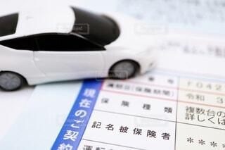 自動車保険の契約に関する書類の写真・画像素材[4056579]