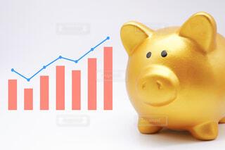 金の豚の貯金箱 貯金アップのイメージの写真・画像素材[4059329]