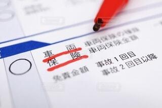 車両保険の書類の写真・画像素材[4075468]