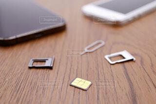 nano-simカードの写真・画像素材[4252275]
