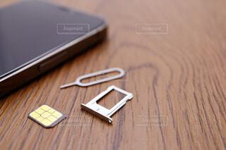 nano-simカードの写真・画像素材[4252276]