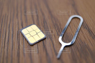 nano-simカードの写真・画像素材[4252277]
