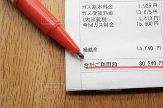 家庭用ガス料金請求書の写真・画像素材[4330434]