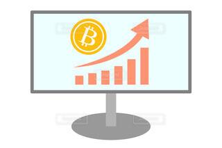 ビットコイン価格の上昇 ベクターイラストの写真・画像素材[4466838]