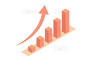 上昇のグラフ アイソメトリック ベクターの写真・画像素材[4551795]