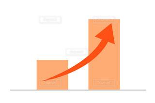 赤いグラフ 上昇 ベクターの写真・画像素材[4668673]