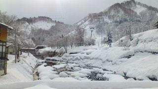 雪の山の写真・画像素材[2846483]