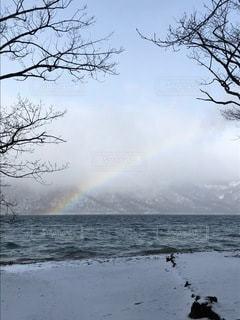 十和田湖のにじの写真・画像素材[3454181]