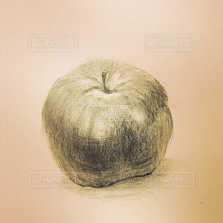りんご,趣味,セピア,デッサン,お絵かき