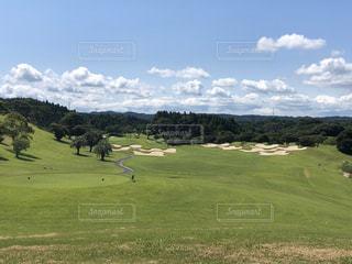 初夏のゴルフ場の写真・画像素材[2851026]