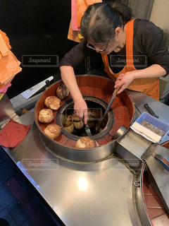 胡椒餅を作る人の写真・画像素材[2852852]