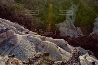 峡谷と夕焼けの写真・画像素材[2859943]