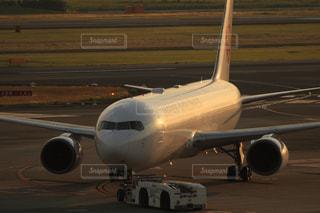 夕暮れの空港の写真・画像素材[2859111]