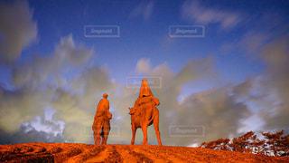 月の砂漠の写真・画像素材[2863421]