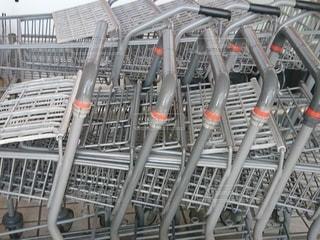 ショッピングカートの写真・画像素材[3556639]