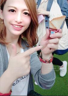 アイスの美味しさは無敵の写真・画像素材[2884153]