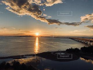 関西空港に沈む夕日の写真・画像素材[2866976]