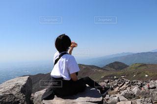登山デート、山頂での一服の写真・画像素材[2867778]