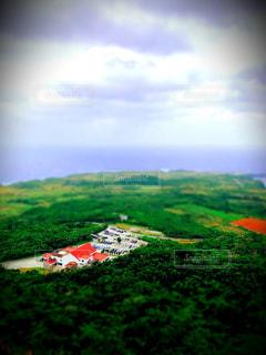沖縄の小さな街の写真・画像素材[2867579]