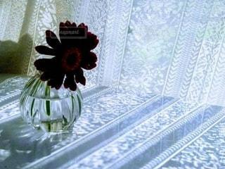 テーブルの上の花瓶の写真・画像素材[2887345]