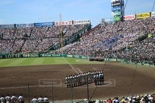 野球の試合を見ている人の群集の写真・画像素材[2948458]