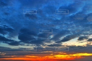 太平洋の夕焼けの写真・画像素材[3891983]