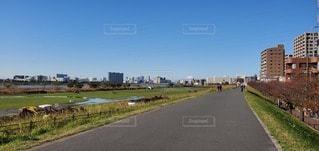 道路脇の都市の眺めの写真・画像素材[2889947]